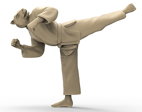 Tiger Back Kick 3D printable model