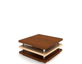Square Tri Level Table 3D