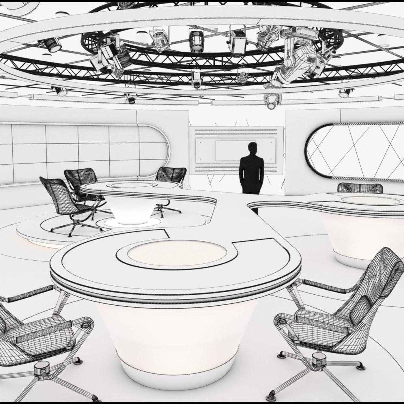 Virtual TV Studio Sets - Collection Vol 13 - 9 PCS DESIGN