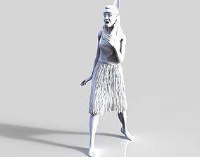 Maori woman 3D print model