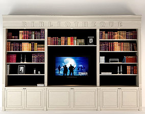Liveroom Bookcase 3D library