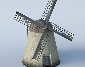 Basic run down grungy Windmill 3D model
