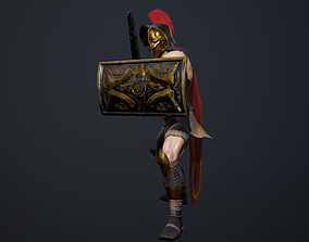3D asset animated Gladiator