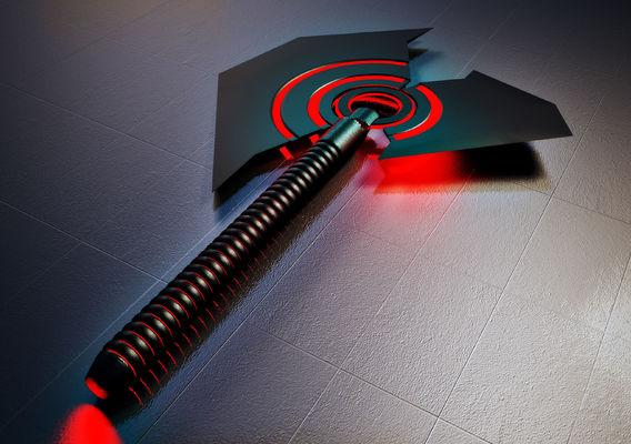 Futuristic axe design
