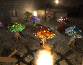 3D model Mushroom Monster Pack PBR
