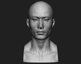 Asian Male Head for Production Low Poly 3D model