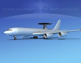 3D model Boeing E-3C Sentry RAF