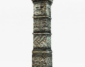 3D asset Low poly ancient column