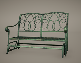 3D model Bench Low Poly Game Ready