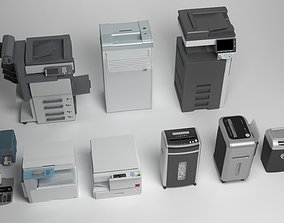 Office Tools Pack 3D model realtime