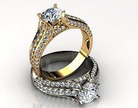 18K Gold Engagement Ring 3D print model