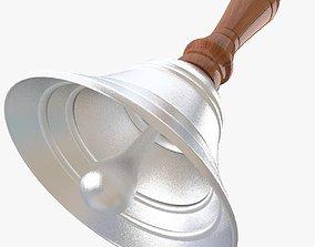 Silver Hand Bell 3D