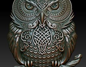 3D print model Celtic owl