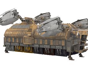 Sci Fi Spaceship - Cargo Ship 3D model