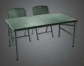 3D model MLT - Military Table and Chair - PBR Game Ready