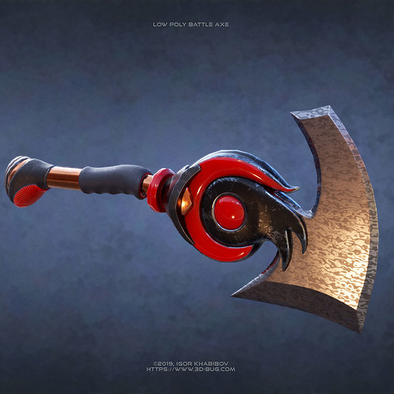 Low poly Battle Axe