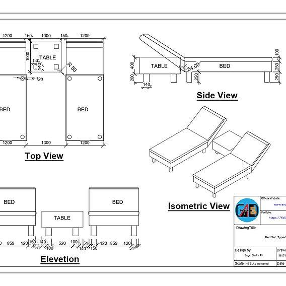 Bed Set Type-1   pdf sheet   free