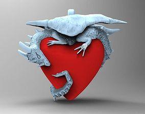 Dragon heart 3D print model