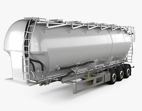 3D model Scania Tanker Semi Trailer 2017