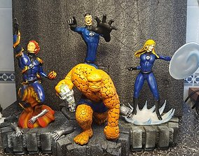 3D print model Fantastic four complete diorama