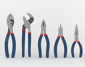 5-piece Pliers Set 3D