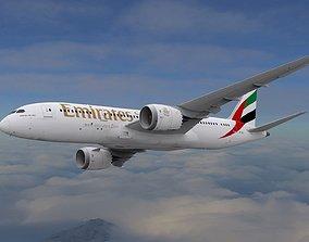 Boeing 787 Dreamliner Emirates Airlines 3D
