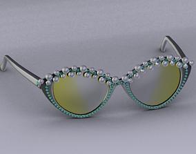 Sunglasses 3D asset low-poly pendant