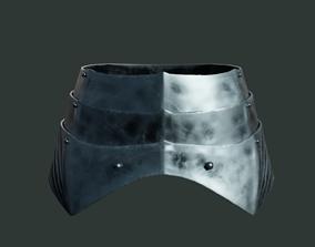Medieval armor parts 002 - skirt 3D model