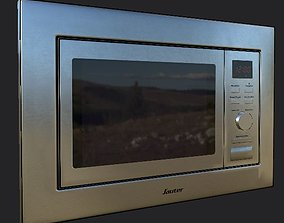 microwave Low-poly Unity ready Low-poly 3D low-poly