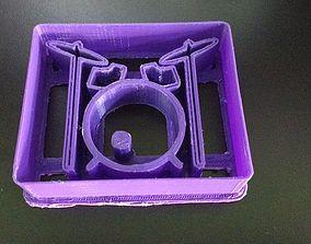 Drums Cookie Cutter Cortante Bateria 3D printable model