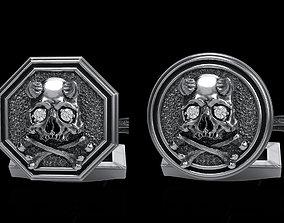skull cufflinks 2 3D model