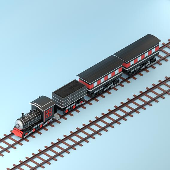 Low poly train