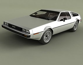 3D model DeLorean DMC 12 Prototype