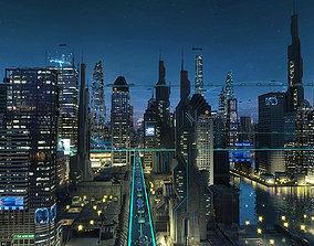Future city 05 3D model