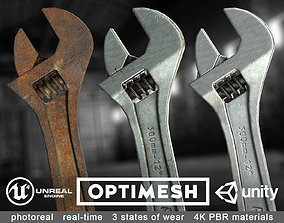 wrench Adjustable spanner - 3D PBR model VR / AR ready