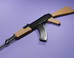 AK-47 low poly 3D asset