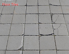 Ultra realistic Tiles Floor Scan rough 3D