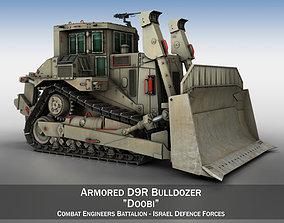 Armored D9R Bulldozer Doobi 3D model