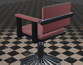 FTCAA005V1 LowPoly Chair EEVEE 3D asset