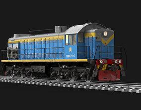 3D Soviet diesel locomotive TEM-2