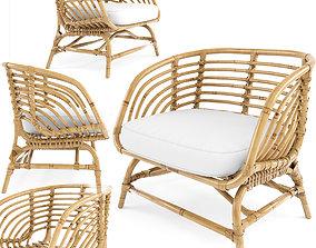 Armchair rattan bamboo IKEA BUSKBUA A Fredriksson 3D model