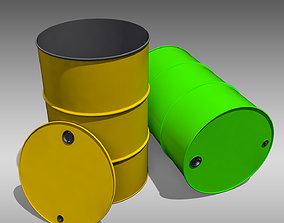 Oil Barrel 3D asset realtime storage