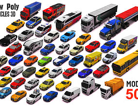 3D asset Vehicle Pack 3