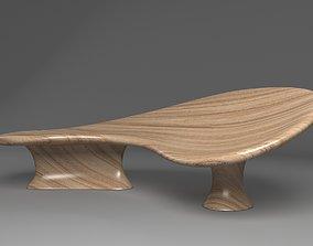 Solid Wooden Sofa 3D
