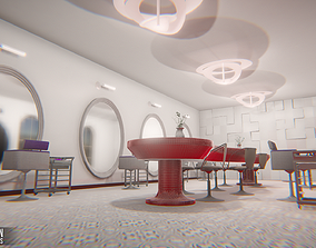 3D asset Beauty salon - interior and props