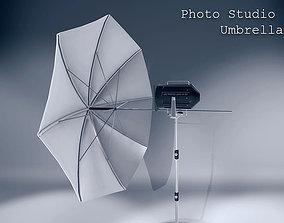 Umbrella for Photo Studios 3D model low-poly