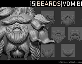 3D asset Zbrush - Beards VDM Brush