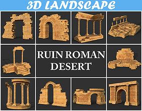 Low poly Ancient Roman Ruin Construction Pack - 3D model