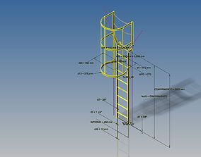Vertical - Ladder 3D model