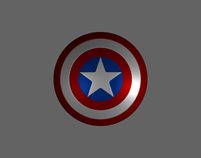 3D Captain America Shield patriotic
